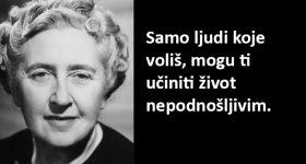 Najlepše misli Agate Kristi: Samo ljudi koje voliš, mogu ti učiniti život nepodnošljivim
