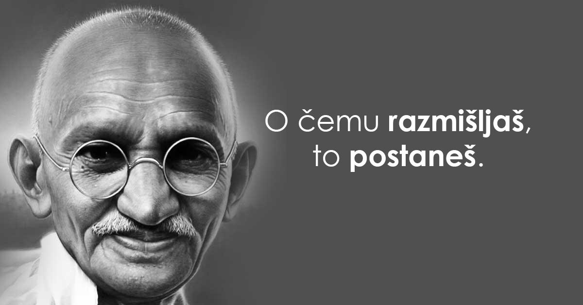 """""""Živi kao da ćeš umrijeti sutra, uči kao da ćeš živjeti vječno"""" – moćne mudrosti Mahatme Gandhija"""