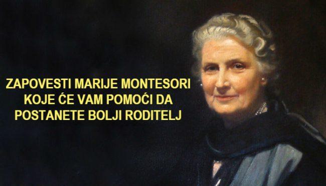 19 zapovijesti Marije Montesori za roditelje