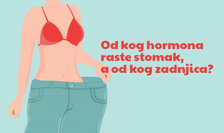 Hormonski disbalans: Od kog hormona raste stomak, a od kog zadnjica