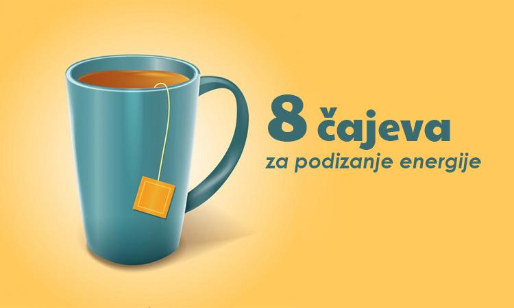 8 čajeva za podizanje energije