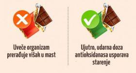 U koje je doba dana najbolje konzumirati određenu hranu.