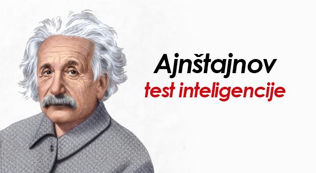 Ajnštajnov test inteligencije: Ako odgovorite na jedno pitanje vi ste genije